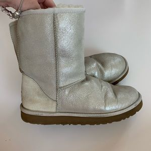 Uggs Classic Boots Size 8 Shimmer Metallic